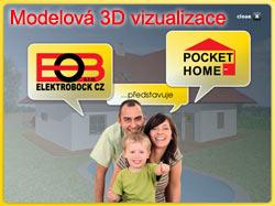 Inteligentní dům - 3D vizualizace